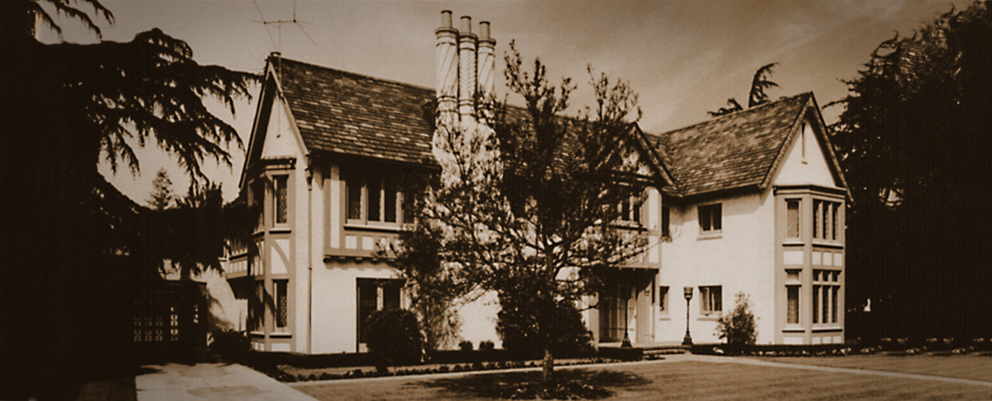 sepia tone image of Getty House